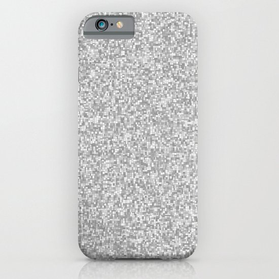 grayscale treemap mosaic iPhone & iPod Case