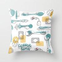 Teaspoon Throw Pillow