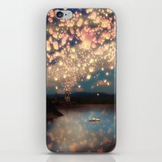 Love Wish Lanterns iPhone & iPod Skin