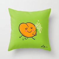 Apricot St Germain Throw Pillow