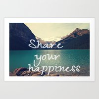 Share your happiness Art Print