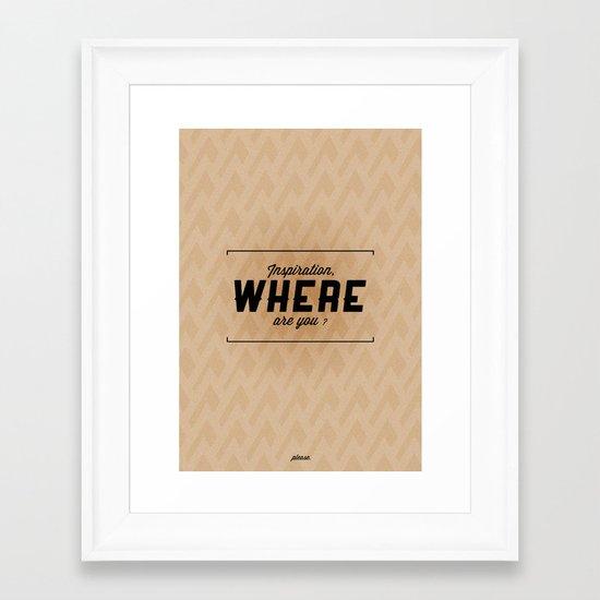 Inspiration Framed Art Print