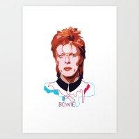 Bowie (Words) Art Print