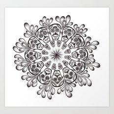 Sugar Skull Mandala Art Print