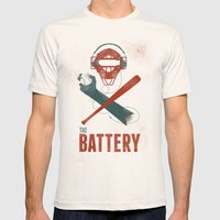 The Battery Mens Fitted Tee Natural SMALL