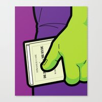 The secret Life of Heroes - Bedtime Reading Canvas Print