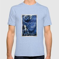 The Tempest - Miranda - … Mens Fitted Tee Tri-Blue SMALL