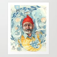 Art Print featuring AQUATIC by Busymockingbird