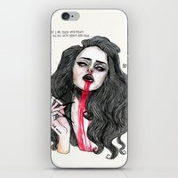 ''Cause I was filled with poison But blessed with beauty and rage'' iPhone & iPod Skin