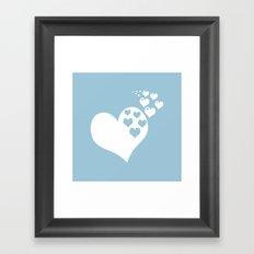 Love Aquamarine Framed Art Print