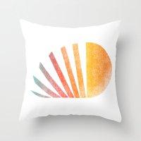 Raising sun (rainbow-ed) Throw Pillow