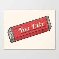 That gum you like is going to come back in style. Canvas Print