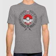 PokéTrainer Mens Fitted Tee Tri-Grey SMALL