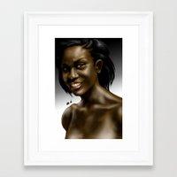 Poetess Heard Framed Art Print