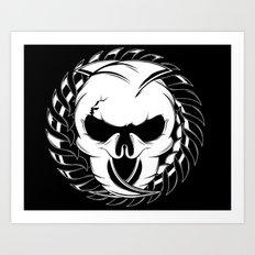 Skull Head Two Art Print