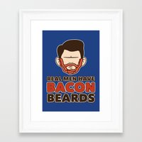 Bacon Beard (men's version) Framed Art Print