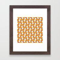 Pattern Repeat Framed Art Print
