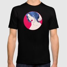 Red Maquillage Mens Fitted Tee Black SMALL