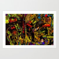 Flower Power And The Hip… Art Print