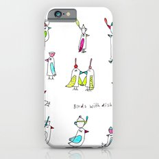birds with dishes iPhone 6 Slim Case