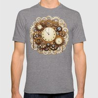 Steampunk Vintage Style … Mens Fitted Tee Tri-Grey SMALL