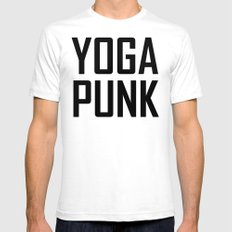 yoga punk SMALL White Mens Fitted Tee