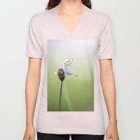 Common Blue Butterfly Unisex V-Neck