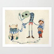 Knitting Train Art Print