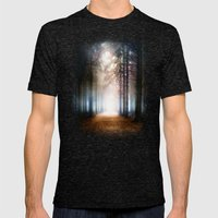 Enchanted Forest Mens Fitted Tee Tri-Black SMALL