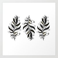 TRIBAL FEATHERS Art Print