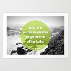 As Far As You Can See Art Print