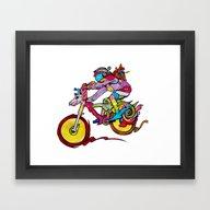 Framed Art Print featuring Poppy by AdaWestart