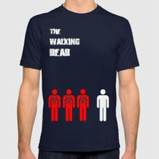 The Walking Dead Minimalist Mens Fitted Tee Navy SMALL