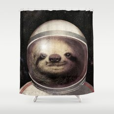 Space Sloth  Shower Curtain