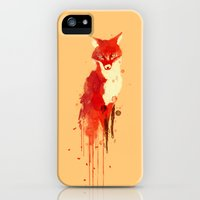 iPhone Cases featuring The fox, the forest spirit by Budi Kwan