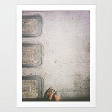 Three Water Sewers Art Print
