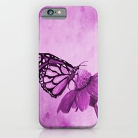 iPhone & iPod Case featuring Radiant Orchid Butterfly by RokinRonda