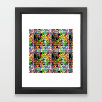 Stained Glass Abstract D… Framed Art Print