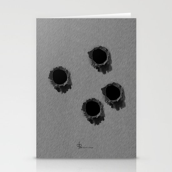 Bullet holes Stationery Card