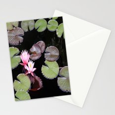 Lily pad flowers Stationery Cards