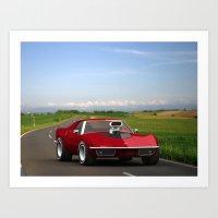 70's Corvette  Art Print