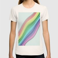 Rainbow Design  Womens Fitted Tee Natural SMALL