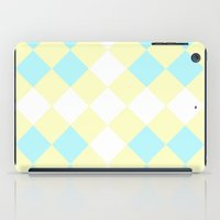 Checkers Yellow/Blue iPad Case