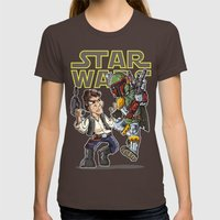Star Wars - Han Solo x Bobba Fett Womens Fitted Tee Brown SMALL