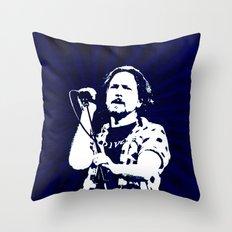 eddie vedder Throw Pillow