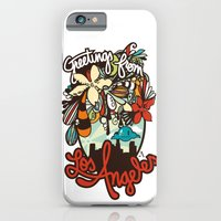iPhone & iPod Case featuring Greetings from Los Angeles by Alexis Chong