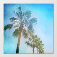 Palms. Beach Canvas Print