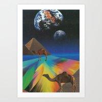 Under The Pyramids Art Print