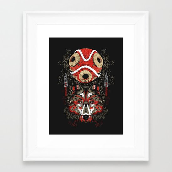 Mononoke Totem Framed Art Print