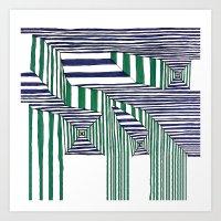 stripes Art Prints featuring Stripes by Take Five